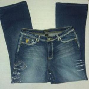 Rocawear Womens High Rise Denim Jeans Size 16